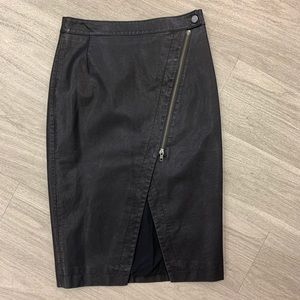 Free People Faux Leather Pencil Skirt NWT